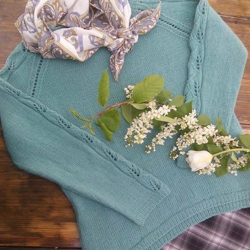 Фото. Весенний пуловер , пряжа ит.сток CASHWOOL - 100% меринос.  Автор работы - L&Mb