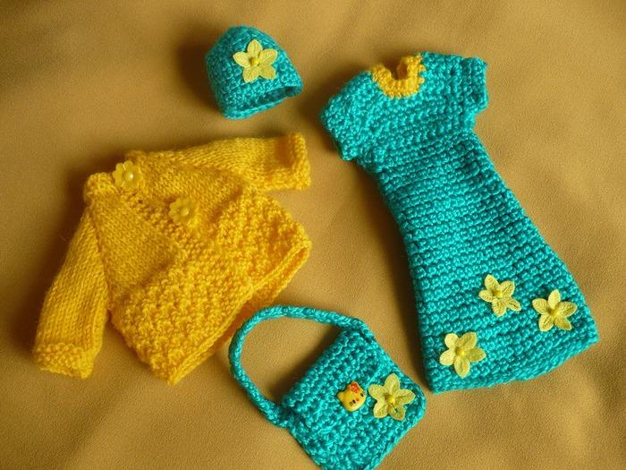 Фото. Вязаные наряды для Барби. Автор работы - lusi372005