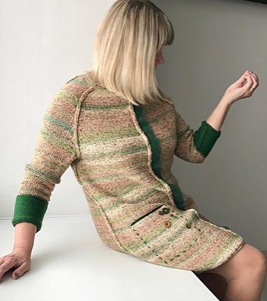 Фото. Бохо-платье (машинное вязание). Автор работы - Северюжка