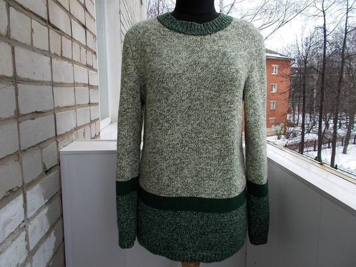 Фото. Мужской свитер из мериноса. Автор работы - Galina-Arc