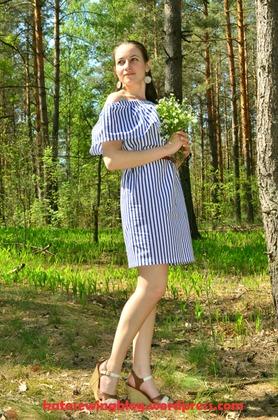 Фото. Хлопковое платье с воланом.  Автор работы - Katesewing