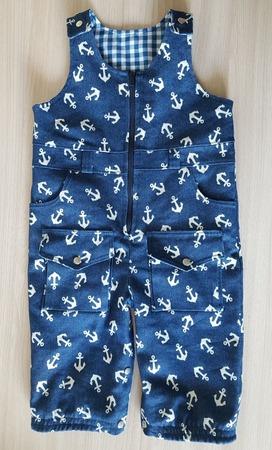 Фото. Полукомбинезон. Верх из джинсы, подклад из хлопка. Автор работы - 1KatyaKaterina