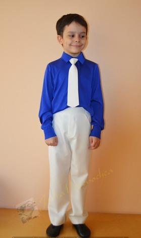 Фото. ...  брюки и галстук из костюмки молочного цвета..  Автор работы - Веревочк@