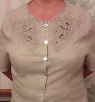 Фото. Вышивка для блузки. Автор работы - LukaNova