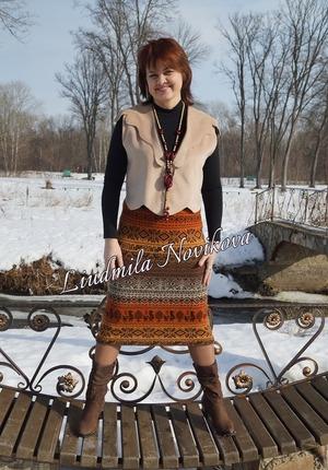 Фото. Зимне-весенний хвастик из последнего номера журнала Любо-дело. Автор работы - Кицунэ-сан