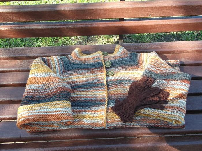 Фото. Связался кардиганчик на летнюю прохладную погоду. Автор работы - Архаша
