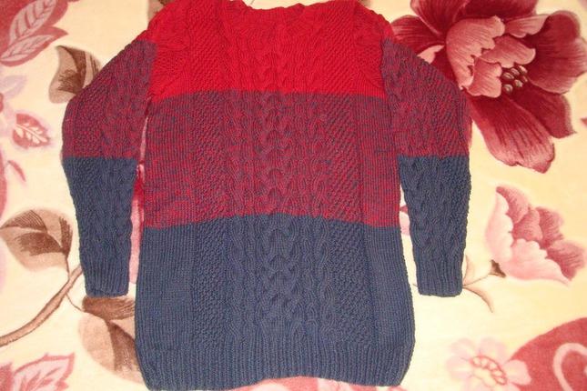 Фото. Мужской свитер.  Автор работы - Лена-Мелена