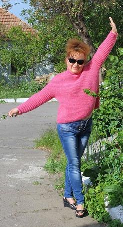 Фото. Джемпер. Пряжа - французская нитка, куплена в секонд стоке.  Автор работы - zara_