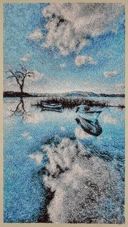 """Фото. Вышитая картина """"Разлив"""". Автор работы - Skarapey"""