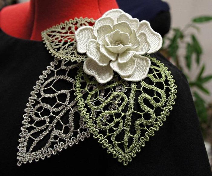 Фото. Совместный проект с Helga - Ольгой Водневой,  необычное украшение на плечо. Автор работы - Triniti13