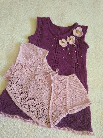Фото. Комплект из платья и болеро для 5-ти месячной малышки. Автор работы - ЯнАлиса