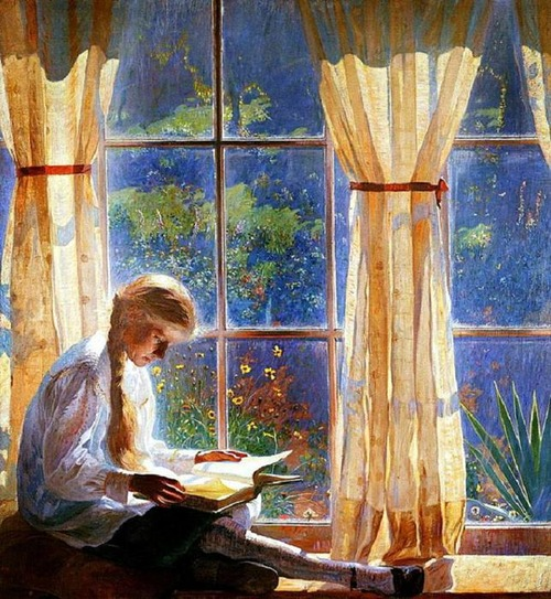 """Фото. Даниэль Гарбер Daniel Garber (1880-1958) """"Окно в сад""""."""