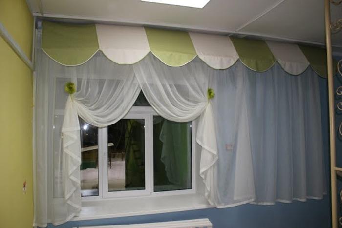 Фото. Нежные пастельные цвета и простота конструкции - шторы для детского сада. Автор работы - спрайт