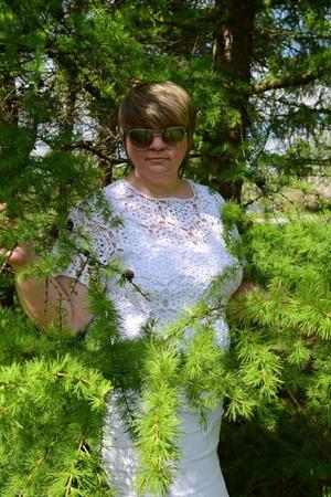 """Фото. Встречаем пору цветения в новом наряде - кофточка """"Яблоневый цвет"""" из пряжи Сосо мотивами, крючком.  Автор работы - Black Fox"""