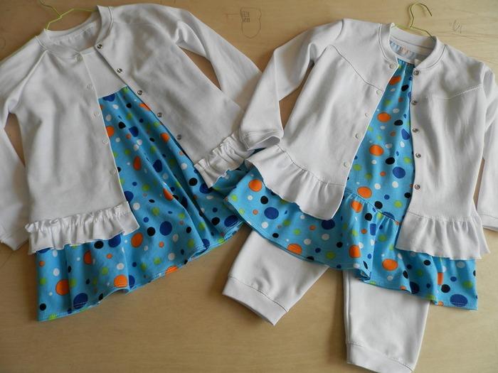Фото. Комплектик для моей крошки. Платье и туника из кулирки х/б, жакеты из интерлока, бриджи из футера. Автор работы - AYouchka