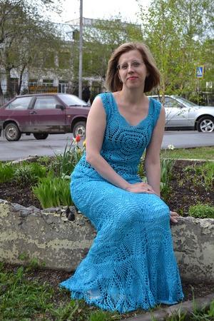 Фото. Платье из 100% хлопка Iafil SPA TEXAS TURCHESE. Автор работы - Исоид