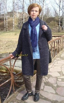 """Фото. Пальто """"oversize"""" из Alize Superlana Maxi..  Автор работы - Valga52"""