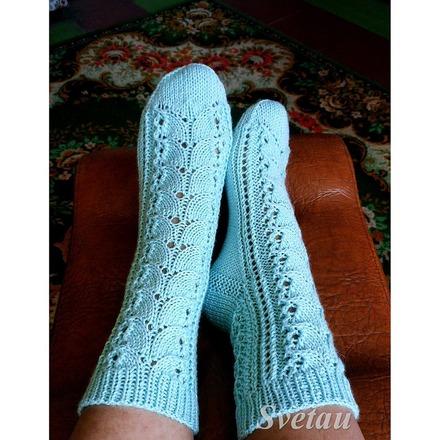 Фото. Ажурные носочки. Автор работы - Svet@u