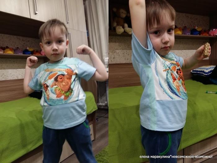 Фото. Для сына  футболка из остатков кулирок.   Автор работы - Елена весенняя