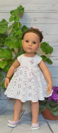 Фото. Вязаное платьице для куклы Гетц. Автор работы - Evento