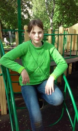"""Фото. Пуловер. Хлопок. Пряжа Пехорка """"Весенняя"""". Автор работы - Misa"""