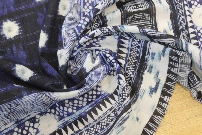 Фото. Марлевка с платочным принтом. 100% хлопок. Фото - Tkani Virgo