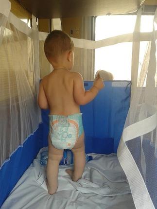 Фото. Детский манеж. Сетка из фатина. Автор - Тэшь