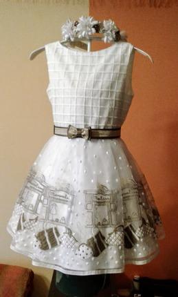 Фото. Платье для внучки - органза с вышивкой. Автор - Bruevich