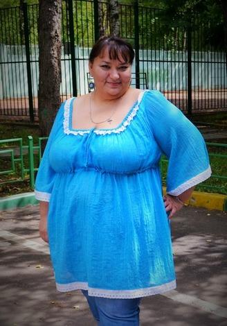 Фото. Туничка летняя. Ткань - тончайший батист-креш. Автор - Веревочк@