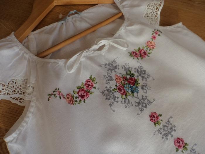 Фото. Летняя льняная блузочка по мотивам французских дизайнов.  Автор работы - Auroraten
