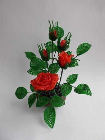 Фото. Орхидея из бисера.  Автор работы - Галина_вГ
