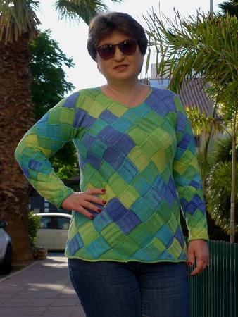 "Фото. Пуловер ""Коктейль с лаймом"".  Автор работы - Anlisa"