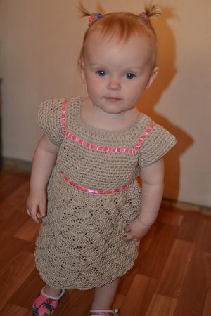 Фото. Платье для малышки на первый день рождения.  Автор работы - Ширла