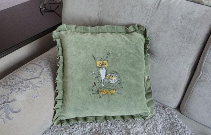 Фото. Мягкие подушки - украшение любого дома. Автор работы - Svetlana173