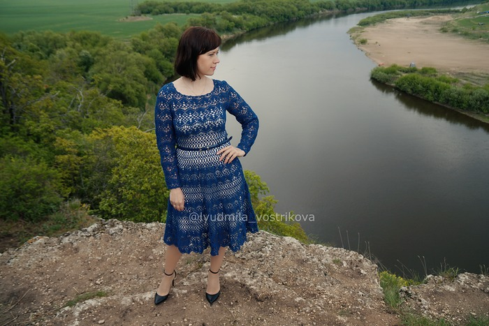 Фото. Платье для лета 2017. Нитки Coco Vita.  Автор работы - LadyMila