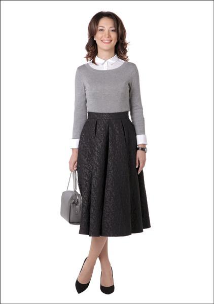 Комплект №2 . Блуза, джемпер, юбка, сумка и туфли – Mohito. Кольцо – Accessorize