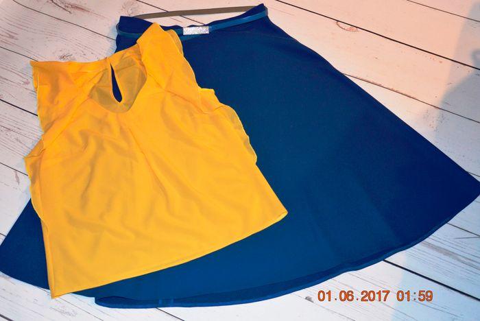 Фото. Юбка-солнце из василькогого крепа и блузка из креп-шифона. Автор работы - Oxana1980