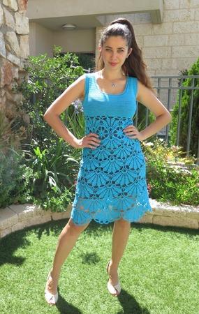 """Фото. Платье """"Голубая лилия"""".  Автор работы - Megy"""