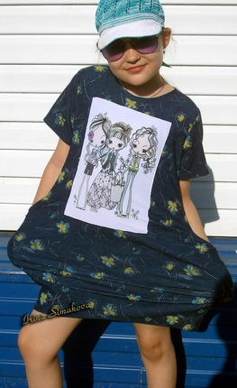 Фото. Простенькое платье из трикотажа.. Автор работы - мамочкаИрочка