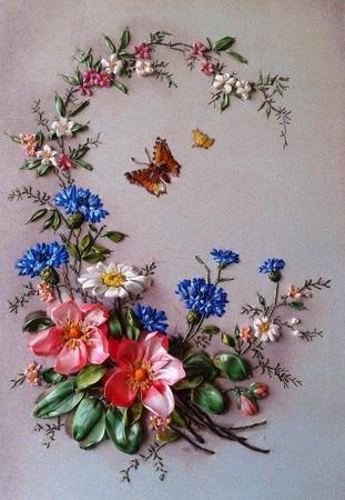 Фото. Вышивка лентами. Автор работы - Marianna Ch