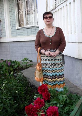 Фото. Вязаное платье. Автор работы - Hozjaika