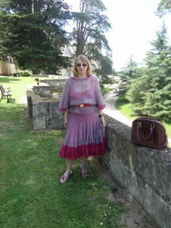"""Фото. Платье """"Сети """" из мохера на шёлке.  Автор работы - Gasaz"""