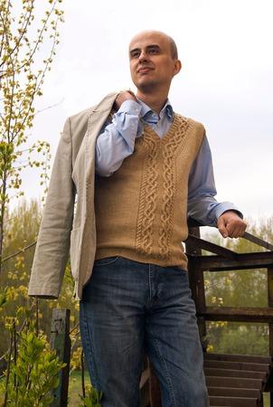 Фото. Элегантная безрукавка Old College Club Men, дизайнера Натальи Пелых.   Автор работы - L^venok