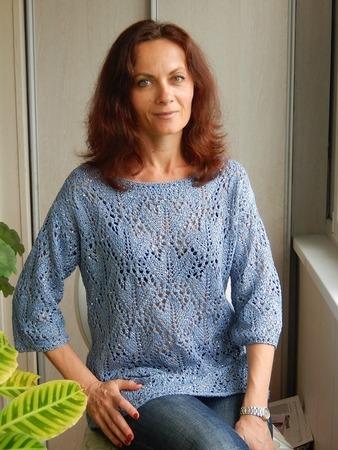 Фото. Ажурный пуловер. Автор работы - Краля