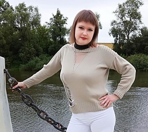 Фото. Пуловер из PHILDAR Пряжа RADAR хлопок 100%. Автор работы - НатТусся