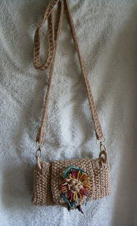 """Фото. Джутовая сумочка """"Лада"""" - прочная и стильная.  Автор работы - Jichareva"""