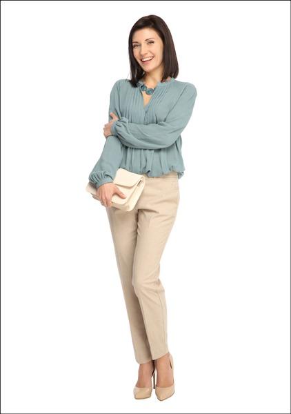 Комплект №2А . Жилет-палантин, блуза, брюки и сумка – Mango