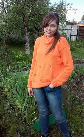 Фото. Пуловер из хлопка. Пряжа Пехорка Весенняя.  Автор работы - Misa