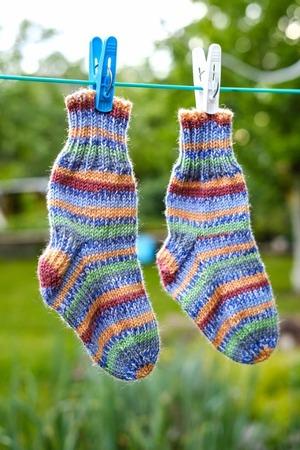 Фото. Носки детские на размер 22-23. Пряжа Regia Silk Color.  Автор работы - Catriona S
