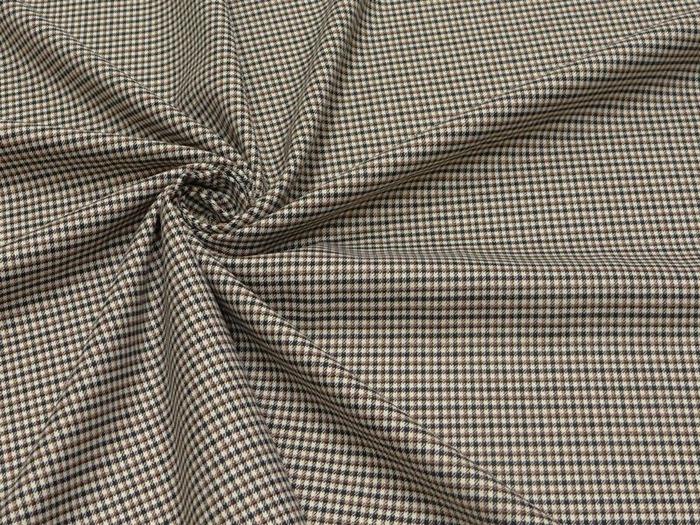 Фото. Ткань костюмная, мелкая клетка.  Фото - Елена-05